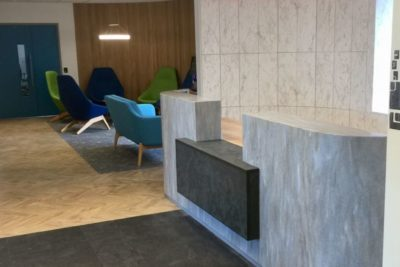 Contemporary Corian Reception Desk