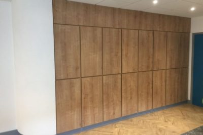 Oak MFC storage wall